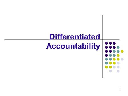 1 Differentiated Accountability. 2 Florida's Differentiated Accountability Model On July 28, 2008, Florida was named one of six states to pilot a differentiated.