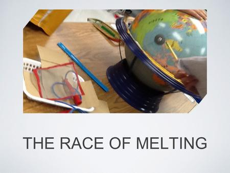 THE RACE OF MELTING. QUESTION Dose Gatorade melt faster than water ?
