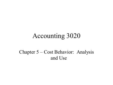 cost accounting a quantitative look at Definition: quantitative analysis is a mathematical and statistical method of  studying behavior and  the most commonly used forms of quantitative analysis  in business are the cost-benefit analysis, the break-even  let's look at an  example.