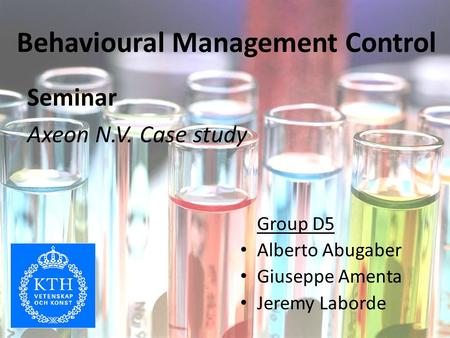 Behavioural Management Control