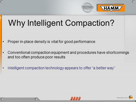 Why Intelligent Compaction?