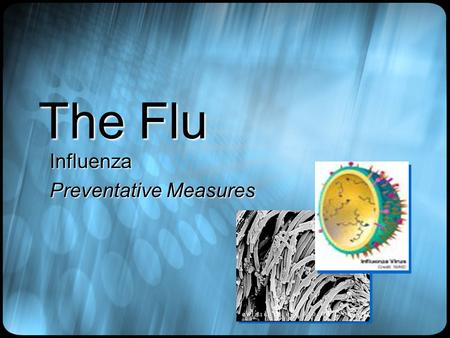 The Flu Influenza Preventative Measures. How do we get it ?