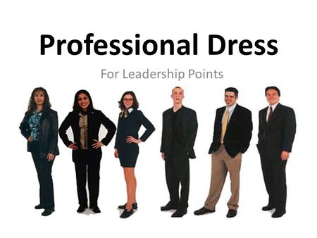 Popular Professional Attire