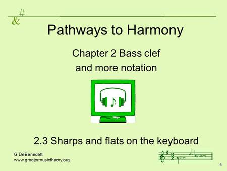 2.3 Sharps and flats on the keyboard