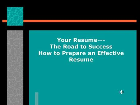 how to prepare an effective resume How to make a resume a resume is a self-advertisement that, when done properly, shows how your skills, experience, and achievements match the requirements of the job.