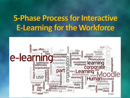 5-Phase Process for Interactive E-Learning for the Workforce.