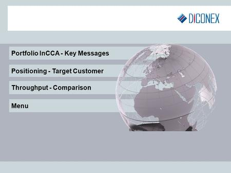 Portfolio InCCA - Key Messages