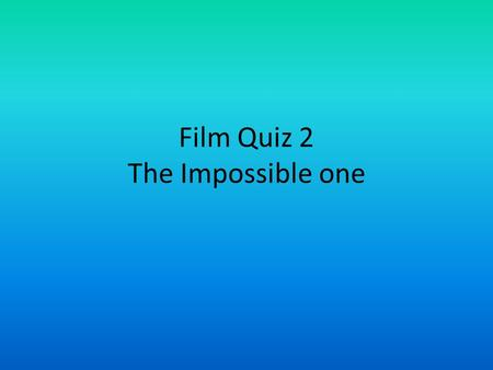 Film Quiz 2 The Impossible one. Who isn't in the Simpsons movie? Press on the person who is not!
