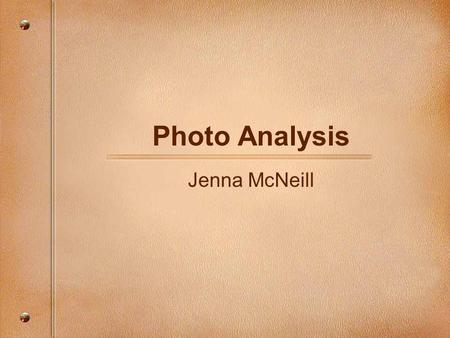 Photo Analysis Jenna McNeill. Depth of Field Range of acceptable sharpness on either side of the line of focus aperture  = DOF  camera/Subject Distance.