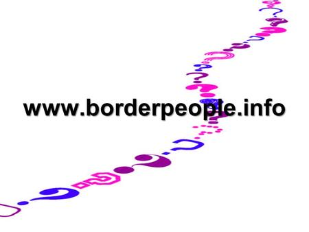 Www.borderpeople.info. North/ South Ministerial Council Aug 2000 Preliminary Study (CCBS) Sept 2000NSMC Plenary Nov 2001 Main Study Nov 2001NSMC Plenary.