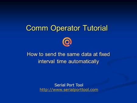 Comm Operator Tutorial How to send the same data at fixed interval time automatically Serial Port Tool