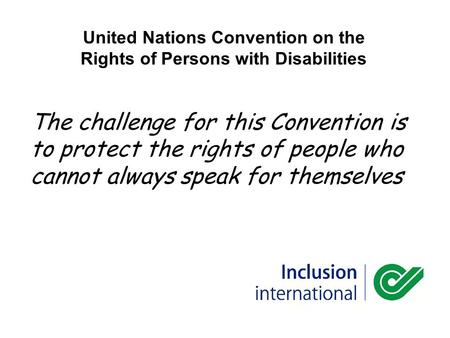 United Nations Convention on the Rights of Persons with Disabilities