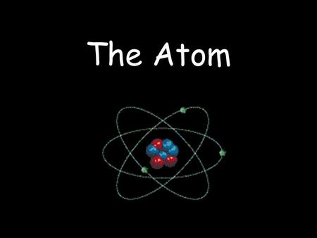 The Atom. What's Inside an Atom The Nucleus The nucleus is the small dense, positively charged center of the atom. It contains most of the atom's mass.