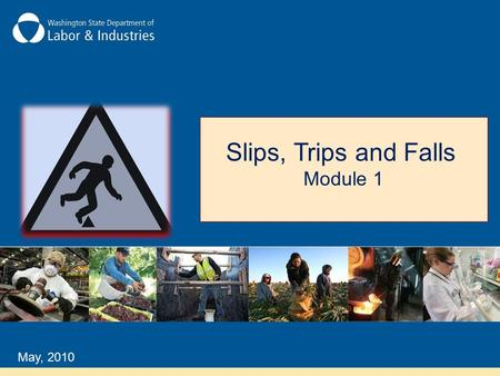 Slips, Trips and Falls Module 1 May, 2010.