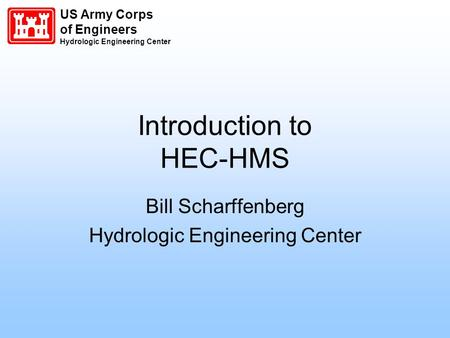 Introduction to HEC-HMS