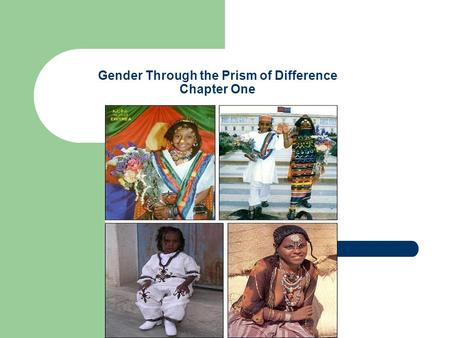 Gender Through the Prism of Difference Chapter One.