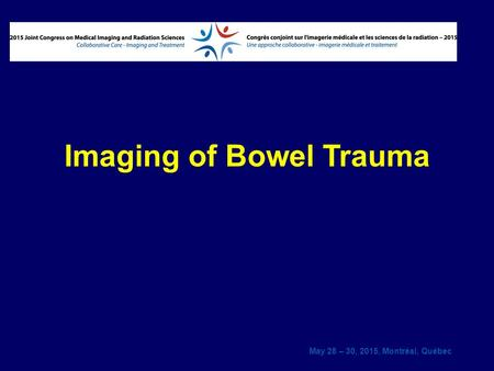 Imaging of Bowel Trauma