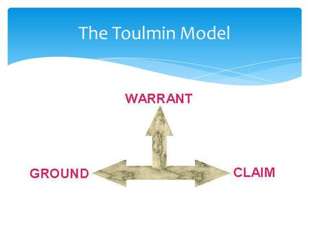 The Toulmin Model. Who was Stephen Toulmin?  March 1922 – December 2009  Author, Educator, Philosopher  Created theories to deal with practical issues.