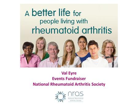 Val Eyre Events Fundraiser National Rheumatoid Arthritis Society.