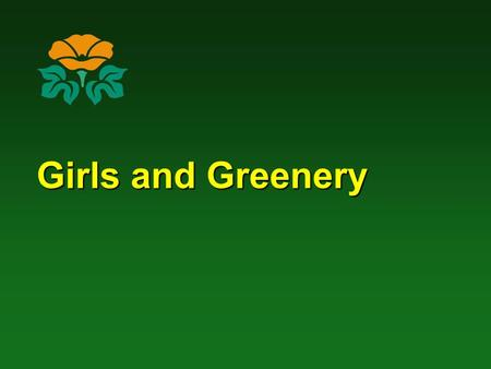 Girls and Greenery. A study conducted by Andrea Faber Taylor, Frances E. Kuo, and William C. Sullivan Natural Resources & Environmental Sciences University.