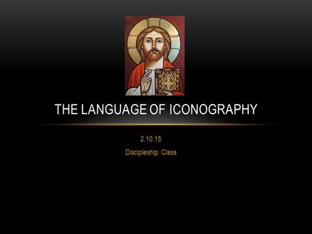 The Language of Iconography