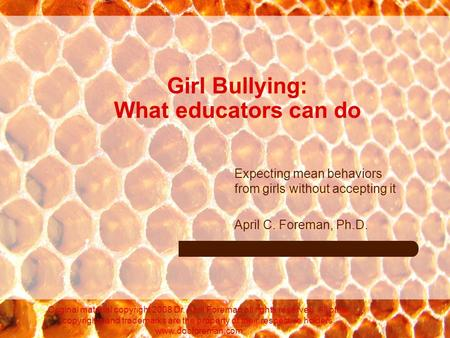Girl Bullying: What educators can do