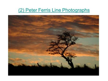 "(2) Peter Ferris Line Photographs. (2) Peter Ferris Line This collection of photographs is possible because of the generosity of many ""cousins"". If I."