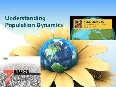 Understanding Population Dynamics. Agenda Layout 1234 The world at 7 billion Demographic transitions 3 Patterns of population change Strategies needed.