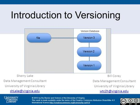 Introduction to Versioning