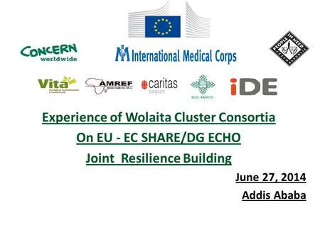 Experience of Wolaita Cluster Consortia Joint Resilience Building