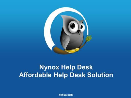 Nynox.com Nynox Help Desk Affordable Help Desk Solution.
