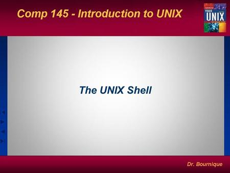 The UNIX Shell. The Shell Program that constantly runs at terminal after a user has logged in. Prompts the user and waits for user input. Interprets command.