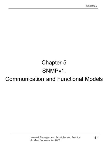 Communication and Functional Models