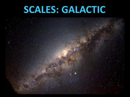 SCALES: GALACTIC. DISTANCE TO STARS Parallax is the shift in perspective viewing a nearby object relative to a more distant one.