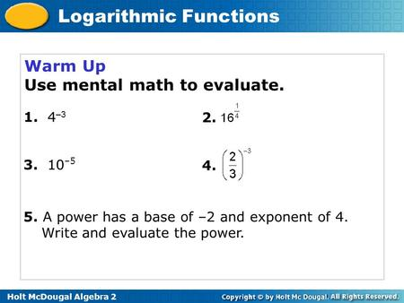 Use mental math to evaluate.