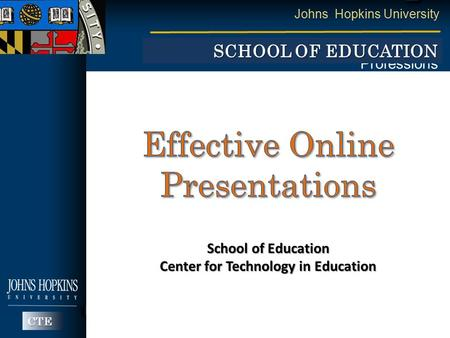 Effective Online Presentations