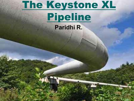 The Keystone XL Pipeline Paridhi R.. Outline Background Information What is it? Crude Oil Construction Stakeholders The Big Issue.