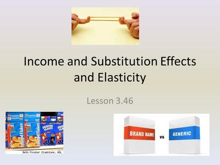 Income and Substitution Effects and Elasticity Lesson 3.46.