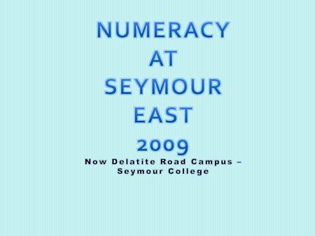  Seymour East was one of two Government Primary schools in Seymour. There is also a Special School and Catholic P-10 college.  Student enrolment of.