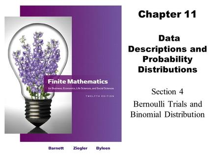 Chapter 11 Data Descriptions and Probability Distributions