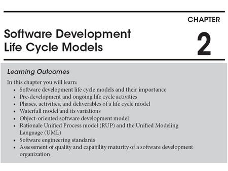 What is a life cycle model? Framework under which a software product is going to be developed. – Defines the phases that the product under development.