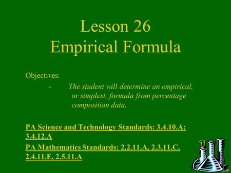 Lesson 26 Empirical Formula