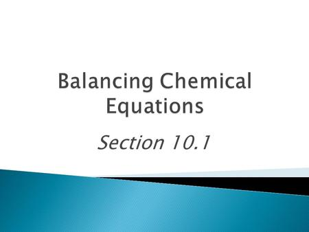 Section 10.1.  Balance skeleton equations  Balance word equations.