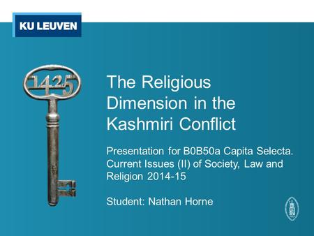 The Religious Dimension in the Kashmiri Conflict