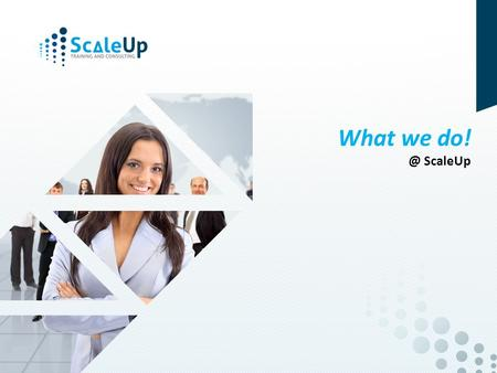 © 2014, ScaleUp Training and Consulting What we ScaleUp.