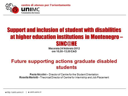 00 AN 1 w  | e Support and inclusion of student with disabilities at higher education institutions in.