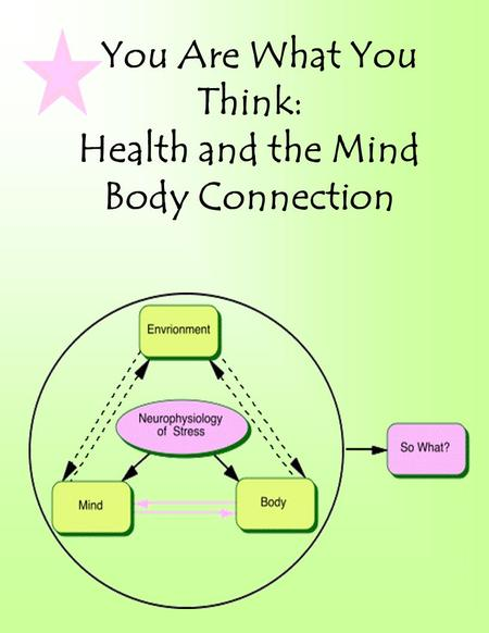 You Are What You Think: Health and the Mind Body Connection.