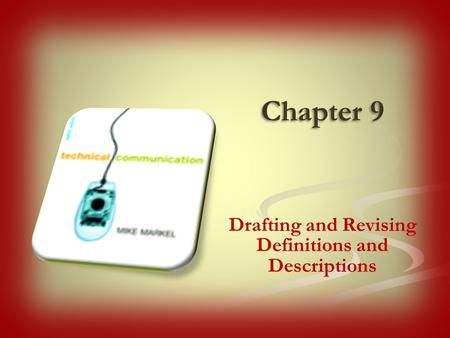 Drafting and Revising Definitions and Descriptions