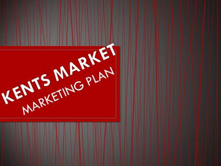 MARKETING PLAN. Want to be known for quality to the customers and with the products provided.