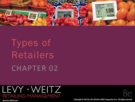 Types of Retailers CHAPTER 02.